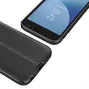 Handy Case für Samsung Galaxy J7 2017 J730 Hülle in einer Leder-Optik Struktur Tasche