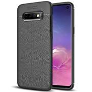 Schutz Hülle für Samsung Galaxy S10 Plus Backcover Handy Case Leder Optik