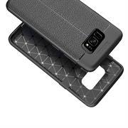 Handy Case für Samsung Galaxy S8 Plus Hülle in einer Leder-Optik Struktur Tasche