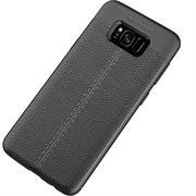 Handy Case für Samsung Galaxy S8 Hülle in einer Leder-Optik Struktur Tasche