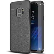 Schutz Hülle für Samsung Galaxy S9 Plus Backcover Case Leder Optik