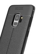 Schutz Hülle für Samsung Galaxy S9 Plus Backcover Case Leder Optik