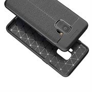 Schutz Hülle für Samsung Galaxy S9 Backcover Handy Case Leder Optik