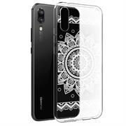 Henna Crystal Motiv Hülle für Huawei P20 Backcover Handy Schutz Case