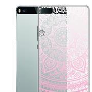 Henna Crystal Case für Huawei P8 Hülle Silikonhülle Mandala Motiv Design