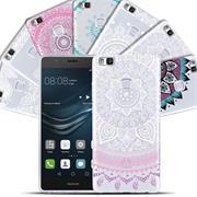 Henna Crystal Case für Huawei P9 Lite Hülle Silikonhülle Mandala Motiv Design