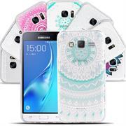 Henna Motiv Hülle für Samsung Galaxy J3 2016 Backcover Handy Case