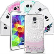 Henna Motiv Hülle für Samsung Galaxy S5 Mini Backcover Handy Case