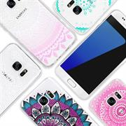 Henna Motiv Hülle für Samsung Galaxy S7 Edge Backcover Handy Case
