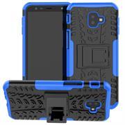 Outdoor Case für Samsung Galaxy J4 Plus Hülle extrem robuste Schutzhülle Back Cover in Blau