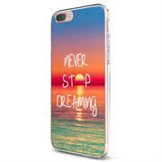 Apple iPhone 8 Plus Handy Hülle transparent Cover mit stylischem Motiv Silikon Case Schutzhülle