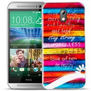 HTC Desire 626 g Handy Hülle transparent Cover mit stylischem Motiv Silikon Case Schutzhülle