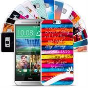 HTC One A9 Handy Hülle transparent Cover mit stylischem Motiv Silikon Case Schutzhülle