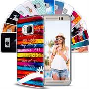 Motiv Hülle für HTC One M7 buntes Silikon Handy Schutz Case