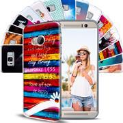 HTC One Mini 2 Handy Hülle transparent Cover mit stylischem Motiv Silikon Case Schutzhülle