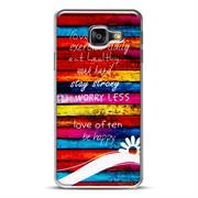 Samsung Galaxy A5 2016 A510 Handy Hülle transparent Cover mit stylischem Motiv Silikon Case Schutzhülle