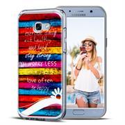 Samsung Galaxy A5 2017 A520 Handy Hülle transparent Cover mit stylischem Motiv Silikon Case Schutzhülle