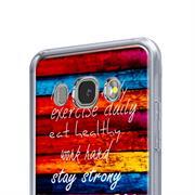Motiv Hülle für Samsung Galaxy J7 2016 buntes Handy Schutz Case
