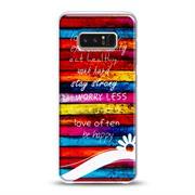 Motiv Hülle für Samsung Galaxy Note 8 buntes Handy Schutz Case