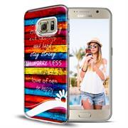 Motiv Hülle für Samsung Galaxy S6 Edge Plus buntes Handy Schutz Case