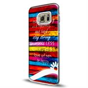 Samsung Galaxy S6 Edge Plus Handy Hülle transparent Cover mit stylischem Motiv Silikon Case Schutzhülle