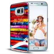 Motiv Hülle für Samsung Galaxy S7 Edge buntes Handy Schutz Case