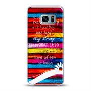 Samsung Galaxy S7 Edge Handy Hülle transparent Cover mit stylischem Motiv Silikon Case Schutzhülle