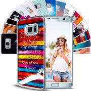 Samsung Galaxy S7 Handy Hülle transparent Cover mit stylischem Motiv Silikon Case Schutzhülle