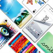 Sony Xperia Z5 Premium Handy Hülle transparent Cover mit stylischem Motiv Silikon Case Schutzhülle