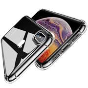 Anti Shock Hülle für Apple iPhone X / XS Schutzhülle mit verstärkten Ecken Transparent Case