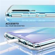 Anti Shock Hülle für Huawei P20 Schutzhülle mit verstärkten Ecken Transparent Case