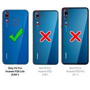 Anti Shock Hülle für Huawei P20 Lite Schutzhülle mit verstärkten Ecken Transparent Case