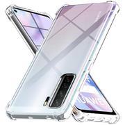 Anti Shock Hülle für Huawei P40 Lite 5G Schutzhülle mit verstärkten Ecken Transparent Case