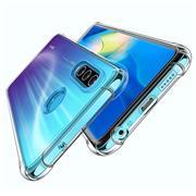 Anti Shock Hülle für Huawei P40 Lite E Schutzhülle mit verstärkten Ecken Transparent Case