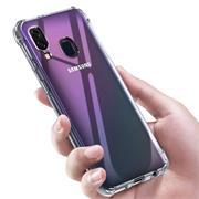 Rugged Schutzhülle für Samsung Galaxy A40 Hülle Kantenschutz Case