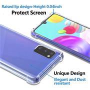 Anti Shock Hülle für Samsung Galaxy A02s Schutzhülle mit verstärkten Ecken Transparent Case