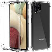 Anti Shock Hülle für Samsung Galaxy A12 / M12 Schutzhülle mit verstärkten Ecken Transparent Case