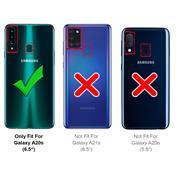 Anti Shock Hülle für Samsung Galaxy A20s Schutzhülle mit verstärkten Ecken Transparent Case