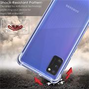 Anti Shock Hülle für Samsung Galaxy A21s Schutzhülle mit verstärkten Ecken Transparent Case