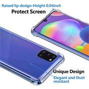 Anti Shock Hülle für Samsung Galaxy A31 Schutzhülle mit verstärkten Ecken Transparent Case