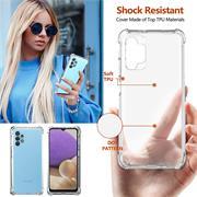 Anti Shock Hülle für Samsung Galaxy A32 5G Schutzhülle mit verstärkten Ecken Transparent Case