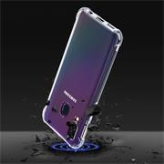 Anti Shock Hülle für Samsung Galaxy A40 Schutzhülle mit verstärkten Ecken Transparent Case