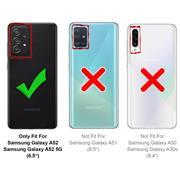 Anti Shock Hülle für Samsung Galaxy A52 4G/5G Schutzhülle mit verstärkten Ecken Transparent Case