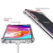 Anti Shock Hülle für Samsung Galaxy A70 Schutzhülle mit verstärkten Ecken Transparent Case