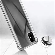 Anti Shock Hülle für Samsung Galaxy A71 Schutzhülle mit verstärkten Ecken Transparent Case