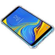 Anti Shock Hülle für Samsung Galaxy A7 2018 Schutzhülle mit verstärkten Ecken Transparent Case