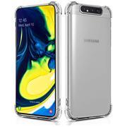 Anti Shock Hülle für Samsung Galaxy A80 Schutzhülle mit verstärkten Ecken Transparent Case