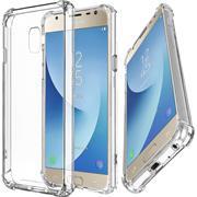 Anti Shock Hülle für Samsung Galaxy J3 2017 Schutzhülle mit verstärkten Ecken Transparent Case