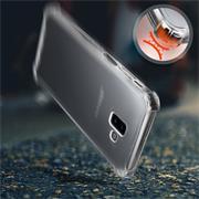Anti Shock Hülle für Samsung Galaxy J6 Plus Schutzhülle mit verstärkten Ecken Transparent Case