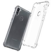 Anti Shock Hülle für Samsung Galaxy M11 Schutzhülle mit verstärkten Ecken Transparent Case